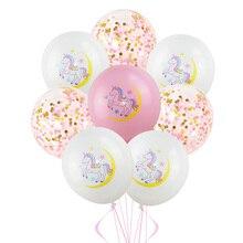 10Pcs Mixed Unicorn Balloons Pink Cartoon Helium Latex Balloon Baby Shower Horse Globe Birthday Party Decoration Favors