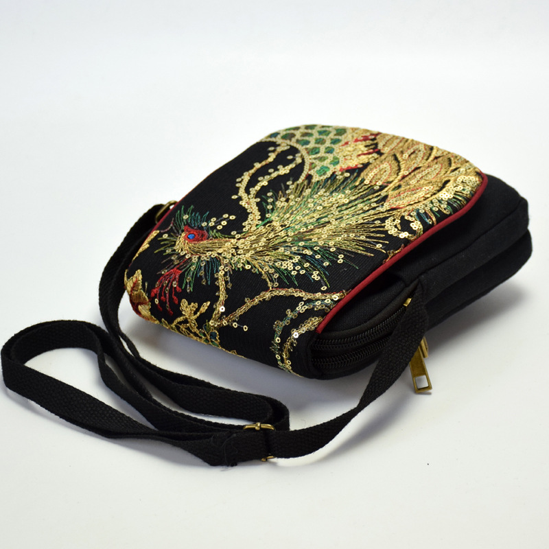 6755034eb8 Aliexpress.com : Buy ETAILL Golden Sequins Phoenix Embroidered Crossbody Bag  Chinese Ethnic Embroidery Bag Vintage Canvas Flap Shoulder Messenger Bag  from ...
