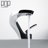 POP Modern Style Home Kitchen Faucet Cold Water Tap Single Handle White Bathroom Faucet New Design
