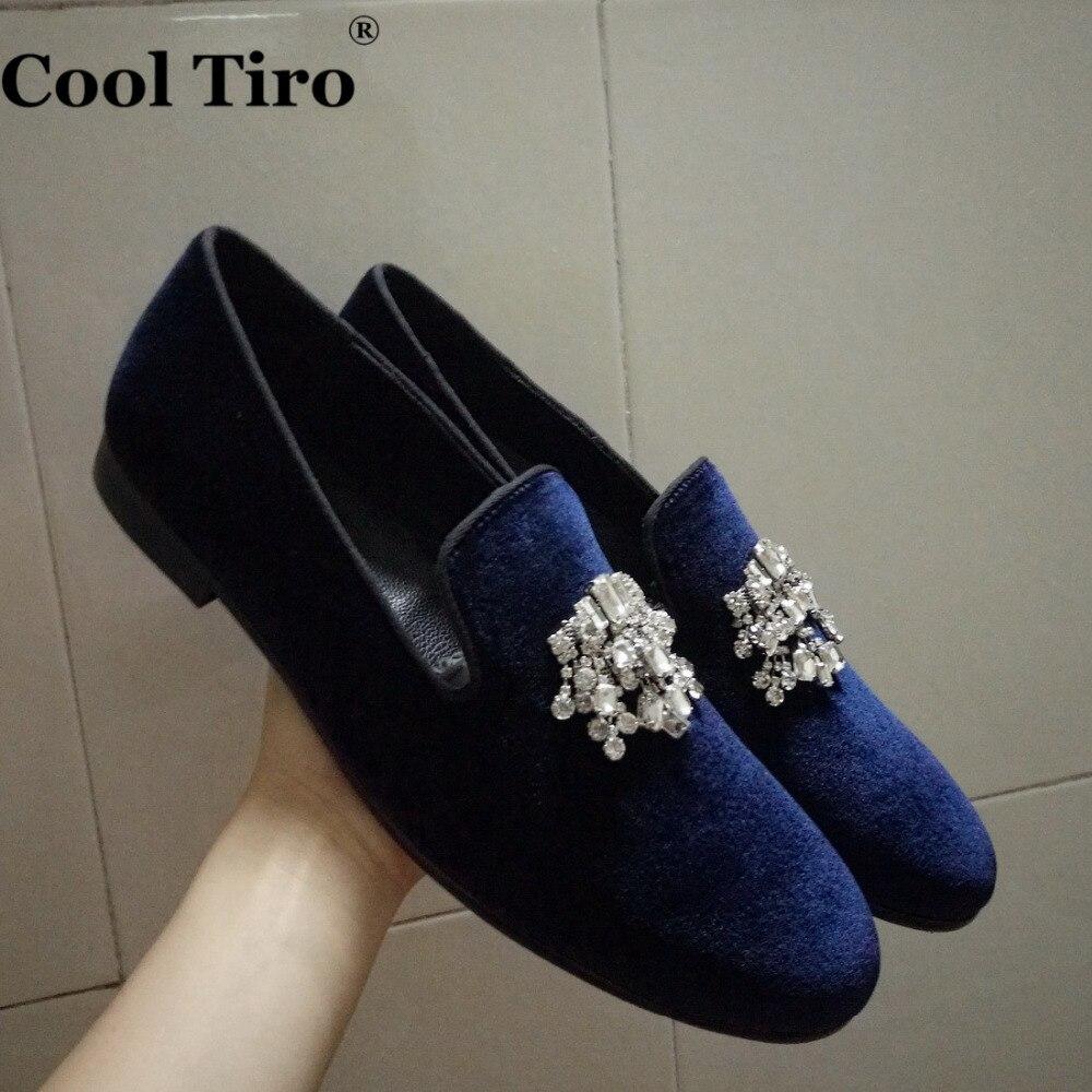 Blue dress loafers
