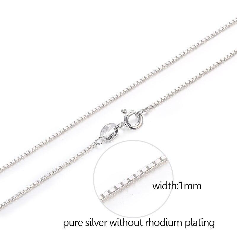 7 Größen Verfügbar Reiner 925 Sterling Silber Box Kette Halskette Frauen Männer Kinder Mädchen 35/40/45/ 50/60/70/80 Cm Schmuck Kolye Collares