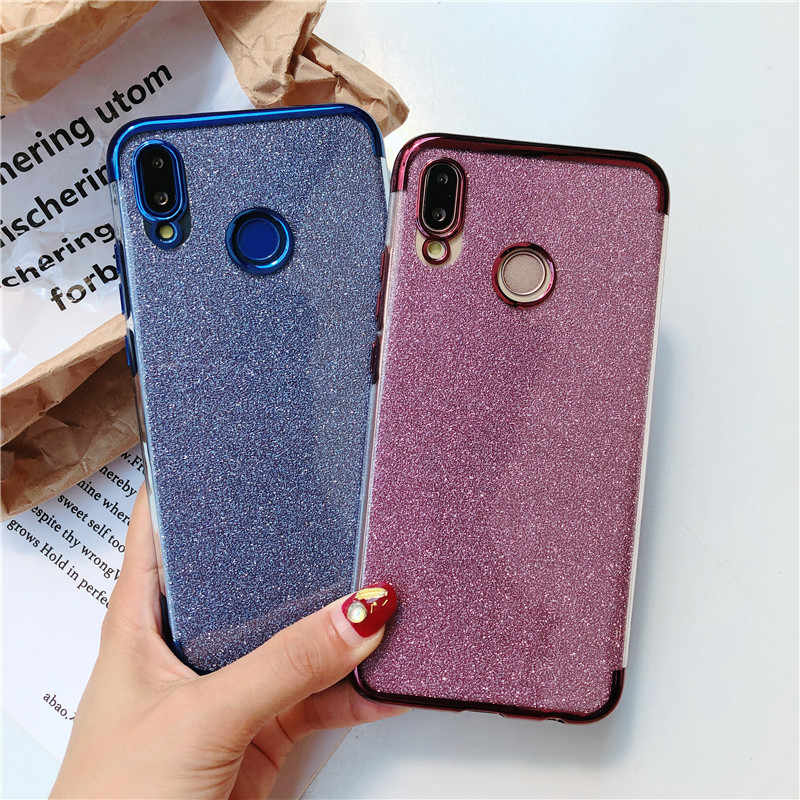 Glitter TPU Phone Cases For Huawei P20 P30 Pro P10 Mate 20 10 Lite Nova 4 3 Honor 9 8 7A 7X 8X 7C Y6 Prime 2018 Silicone Cover