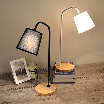 TUDA 15X50cm Free Shipping Modern American Style Metal Table Lamp Fashion Design Cloth Lampshade Table Lamp For Living Room E27