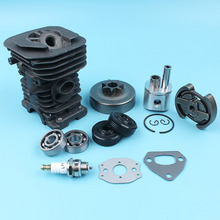38mm Cylinder Piston Clutch Drum Ball Bearings For HUSQVARNA 136 137 141 142 Chainsaw Oil Seals Spark Plug Muffler Carb Gasket cylinder clutch sprocket drum bearing fit husqvarna 142 136 137 141 chainsaw