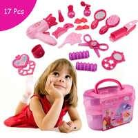 Kit de cosmétiques princesse semblant jouer jouets ensemble de maquillage enfants bébé filles préscolaire enfant beauté jouets de mode jeu