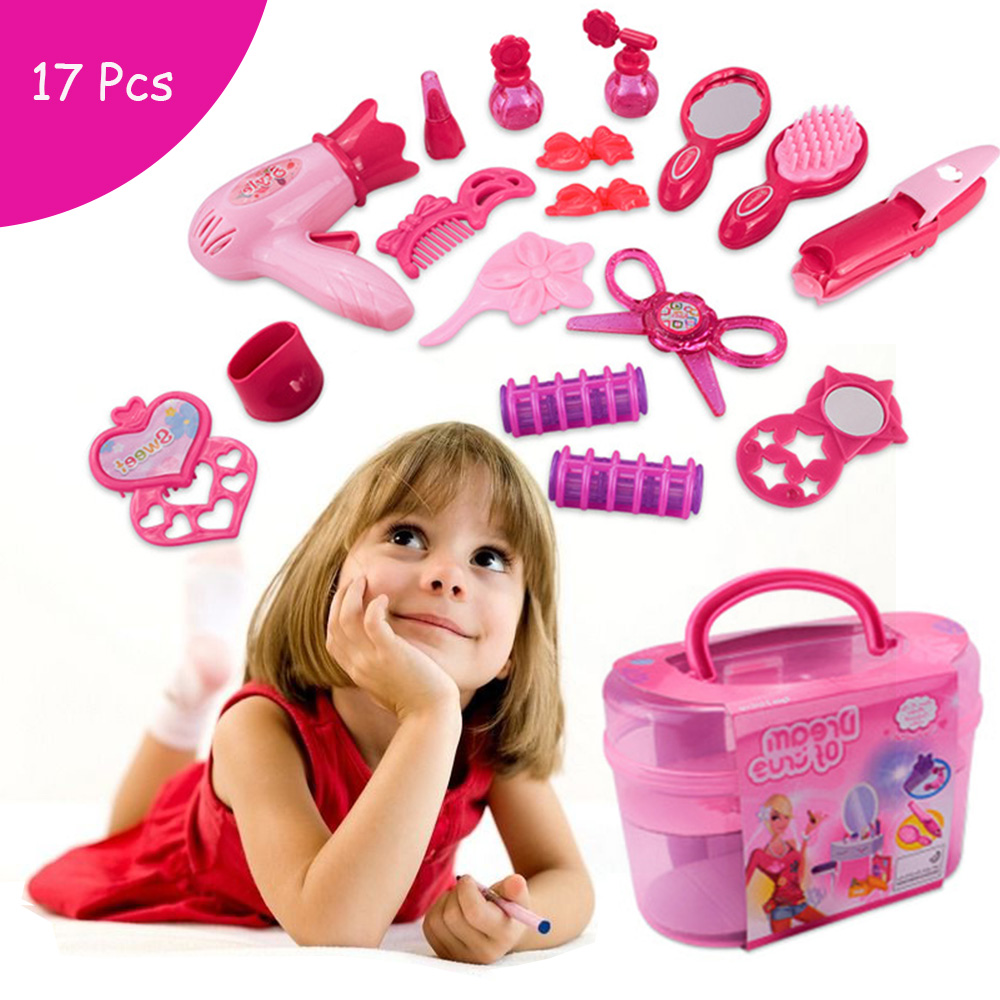 Princess Cosmetics Kit Pretend Play Toys Makeup Set Kids Baby Girls Preschool Kid Beauty Fashion Toys Game