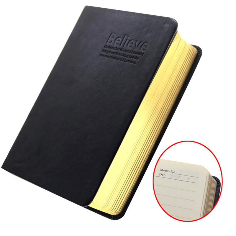 A6 Believe Vintage Bible Notebook Diary 352 Sheets Of Paper 704 Pages 16.3 * 11.5 * 4cm Leather Cover With Writing Column Inside