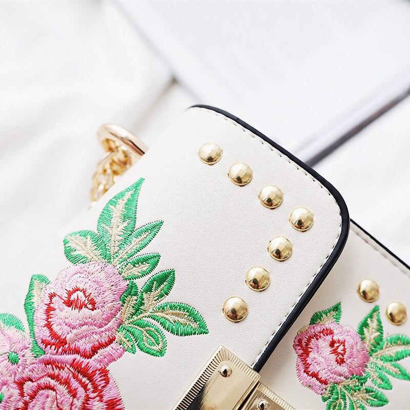 pink Bag Rosa Delle Messenger Del Flap Black Di Della Cuoio Borsa Donne Tote 2018 white Progettista Ricamo Elaborazione Dell'unità Sacchetto Spalla 6xfHptq