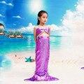Children Girls Mermaid Tail Cosplay Costume Fancy Skirts Tube Tops Hallowmas Carnival Children's Day Dress Costumes