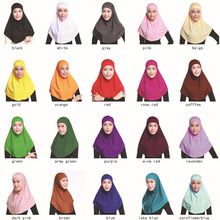 2017 Plain Hijabs Scarf Women Muslim Hijab Inner Cap Hot Sale Adult Plain Hijabs Linen None Formal New Sets Of Two Headscarf