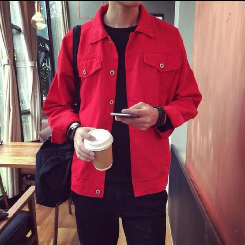 Us 31 53 13 Off 2018 New Fashion Mens Denim Jacket Men College Outwear Jeans Jacket And Coats Korean Style Single Breast Coats M 2xl In Jackets From