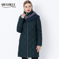 MIEGOFCE 2018 New Winter Women's Coat Bio Fluff Outerwear Parkas Fashion Style High Quality Jacket With Scarf Warm Women Coat