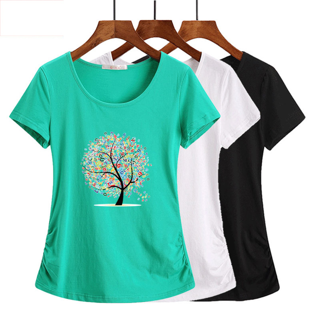 b4922a6da9 2019 New Cotton Harajuku Aesthetics Tshirt Sexy Flowers Feather Print Short  Sleeve Tops & Tees Fashion Casual Couple T Shirt