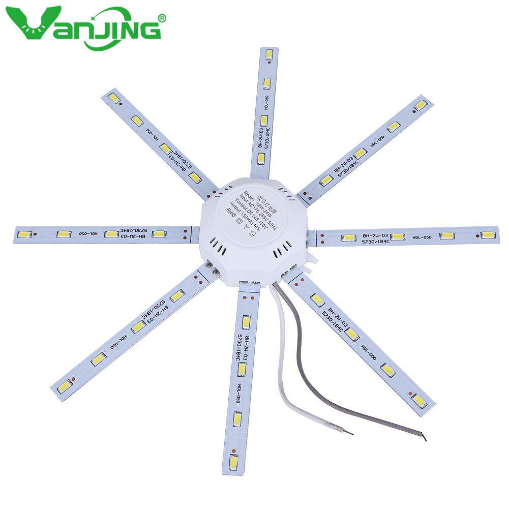 Led Downlight Octopus Plate Ring Lights Lamp 5730 SMD 12W 16W 20W 24W for Ceiling Lamp Absorb Dome Replace LED Light Board 220V 20pcs 12w led light panel smd 5730 ic driver pcb input voltage ac110v 130v needn t driver aluminum plate free shippping