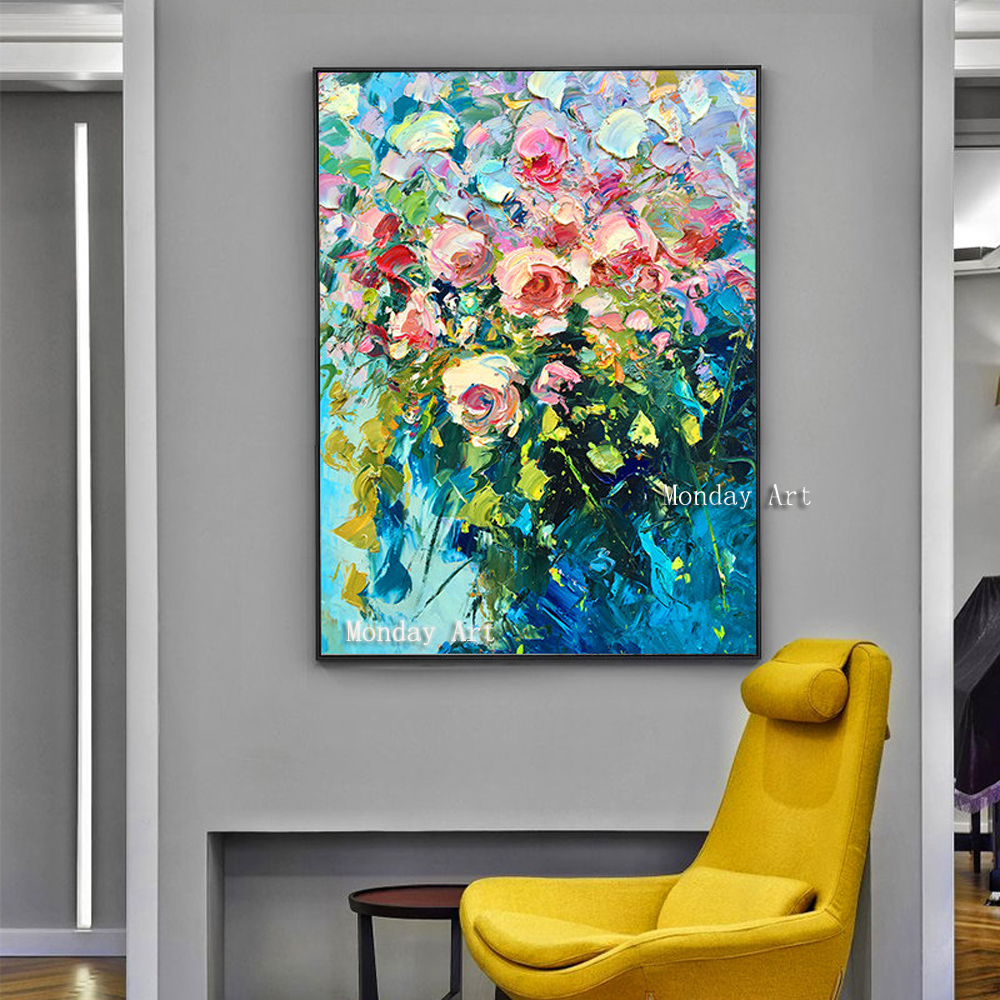 100-Hand-Painted-Colorful-Flowers-Art-Oil-Painting-On-Canvas-Wall-Art-Wall-Adornment-Pictures-Painting (3)