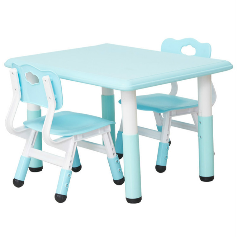 Children's table and chair set baby learning table game toy table home kindergarten table plastic rectangle