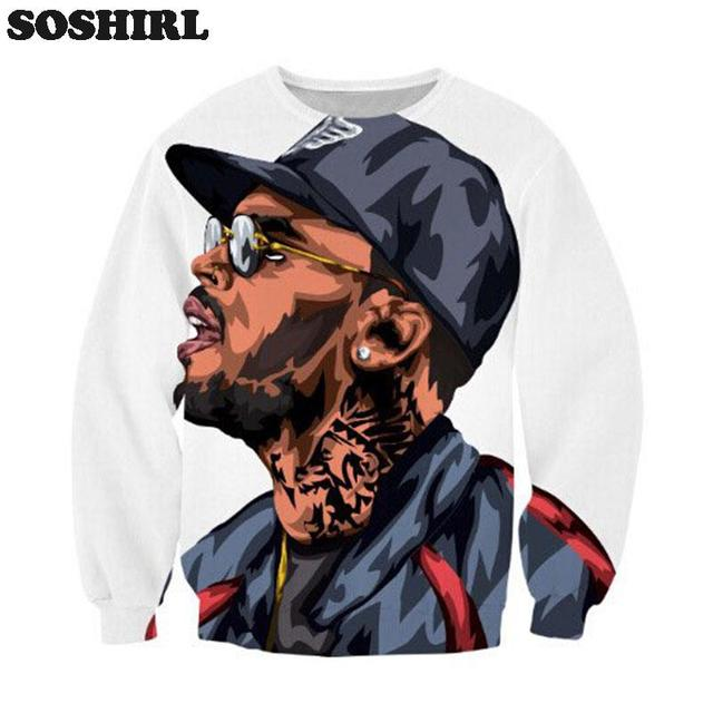harajuku chris brown cartoon character hooded jumper sweatshirt