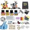 ITATOO Nova Tatuagem Kit Máquina de Tatuagem Barato Conjunto Kit de Tatuagem Máquina de Tinta Suprimentos Arma Temperary Arma Profissional CD003