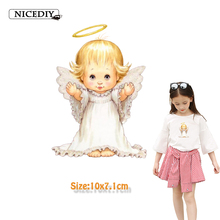 Nicediy Lovely Baby Angel Patches Heat Transfer Vinyl Sticker Iron On Patch Clothes Stickers Easy Print By Household Irons Badge