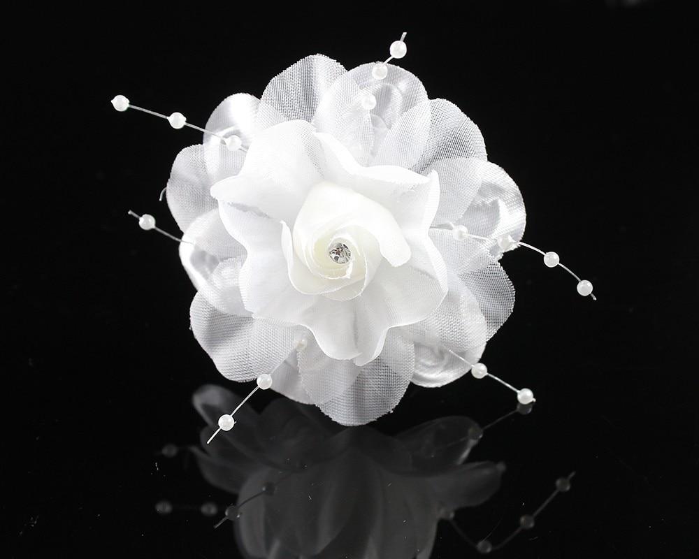 Bridal Artificial Flower Hair Clips Wedding Party Fabric Flower Hair