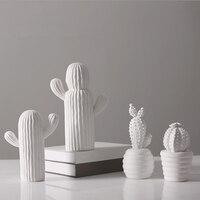 2018 New Chinese Jingdezhen Porcelain Vases Creativity Cactus Modern White Ceramic Vases for Wedding Home Decoration Gifts 6
