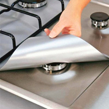 Cooktop a Gas Non-Stick Gas Range Protectors Double Thickness 0.2mm Kitchen Cooker Gas Stove Oven Cover Protector Cocina цена и фото
