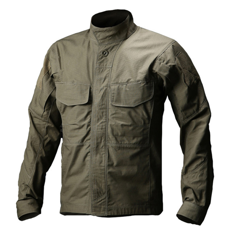 WOLF ENEMY Men Military Shirt Outdoor Waterproof Breathable Tactical Shirt Summer Long Sleeve Hiking Fishing Shirt