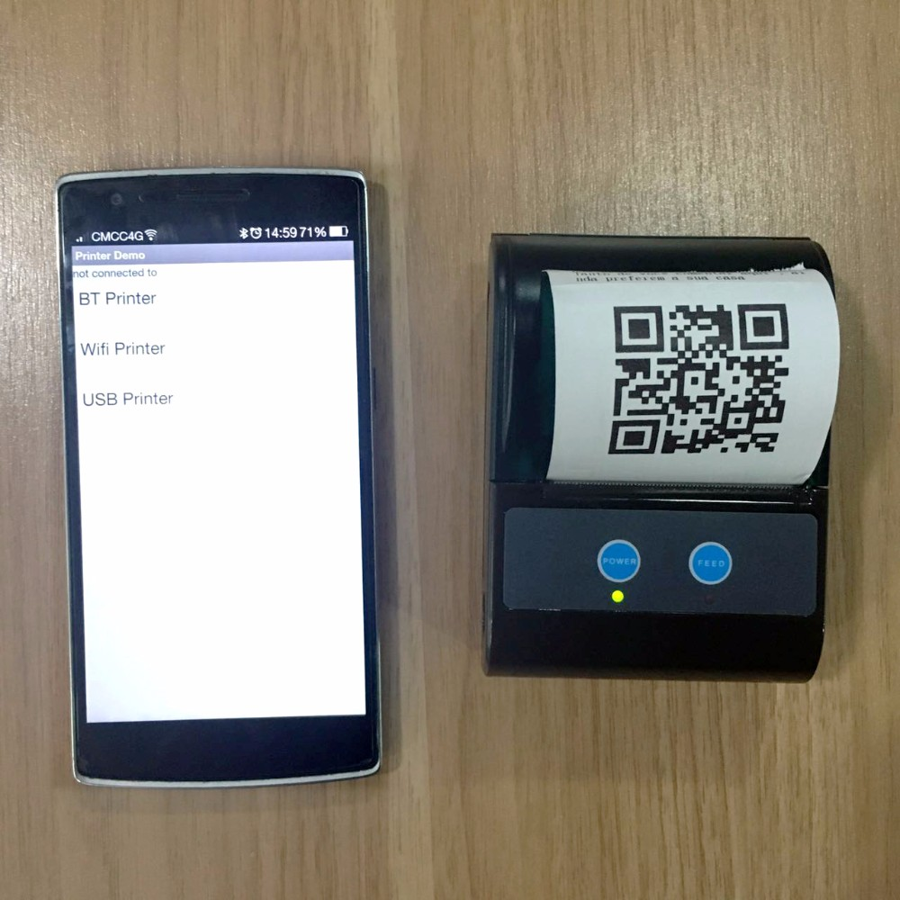 US $39 0 |QR Code Printer Portable Mobile Mini Thermal Printer-in Printers  from Computer & Office on Aliexpress com | Alibaba Group