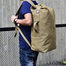 Large Capacity Men Women Travel Bag Tactical Climbing Backpack Hiking Bags Canvas Bucket Shoulder Sports Bag цены онлайн