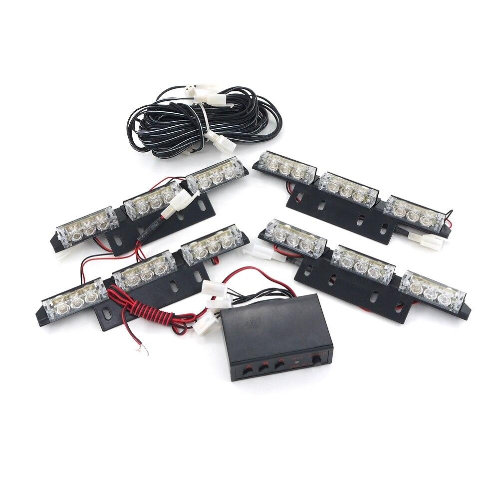 Eonstime 12V 4X9LED 36 LED Warning Blinking Strobe Flash Light 3 Mode 12V. Red, Amber. White. Blue. Green LED Flash
