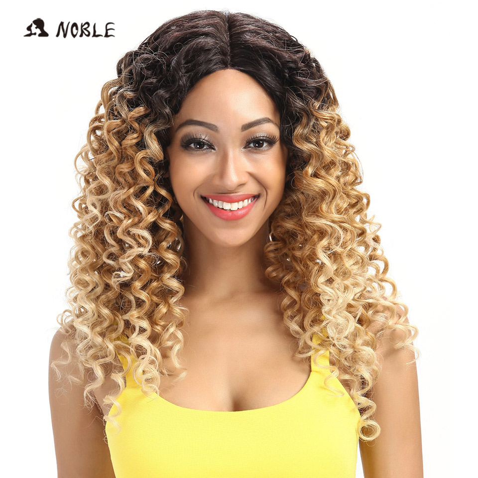 Noble Loose Wave Lace Front Wigs 26 Inch Long Ombre 613 Synthetic Cosplay Wigs For Black Women Heat Resistant Free Shipping