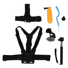 Head Cheat Strap + Handle Monopod + Floating Mount + Suction Cup Mount for GoPro Hero 7/6/5/4/3/3+/2/1 xiaomi yi Accessories Set 2 3 4 5 6 7 germany aaron zahn cup viscosity cup