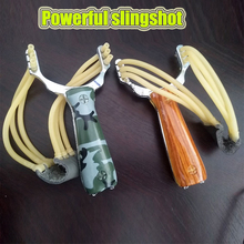 Hot Powerful Slingshot Crossbow Hunting Aluminum Camouflage Outdoor Shooting Accessories