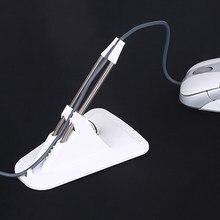 Suporte para fio de mouse, grampo para organizar cabos, flexível e perfeito para jogar