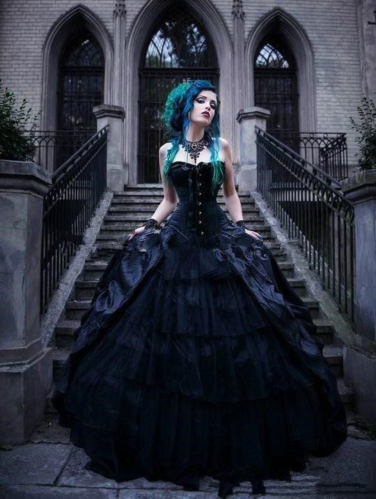 Vintage Black Victorian Gothic Wedding Dresses Corset Strapless Vampires Punk Style Country Wedding Dress Plus Size Evil Queens Buy At The Price Of 143 65 In Aliexpress Com Imall Com