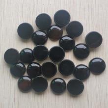 Großhandel 20 teile/los Mode gute qualität Natürliche schwarz onyx runde cabochon 20mm perlen für schmuck zubehör, der freies