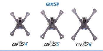 Bricolage FPV RC Drone GEPRC Léopard GEP-LSX4 205mm/LSX5 230mm/LSX6 265mm Quadrirotor 7075 Aviation Aluminium & 3 K Cadre En Fibre De Carbone