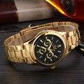 CHENXI Золотые Часы Мужские Часы Лучший Бренд Класса Люкс Известный 2016 Наручные Часы Мужской Часы Золотые Кварцевые Наручные Часы Relógio Masculino