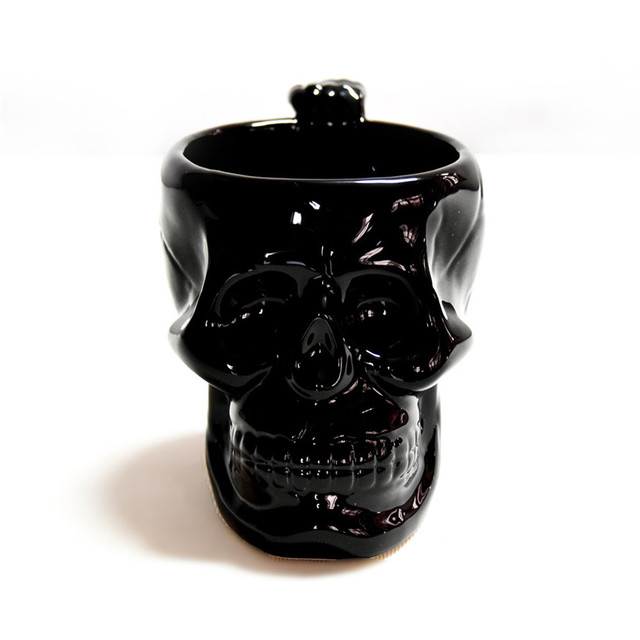 Gothic Skull coffee cup super cool Black Skull skull cup cup personality cups Creative Gift Mug 5