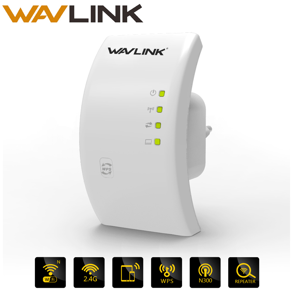 Wavlink Portable 2.4G 300Mbps Wireless Wi-fi Repeater Extender 802.11n/b/g Wifi Signal Amplifier Booster Wifi Range White/Black