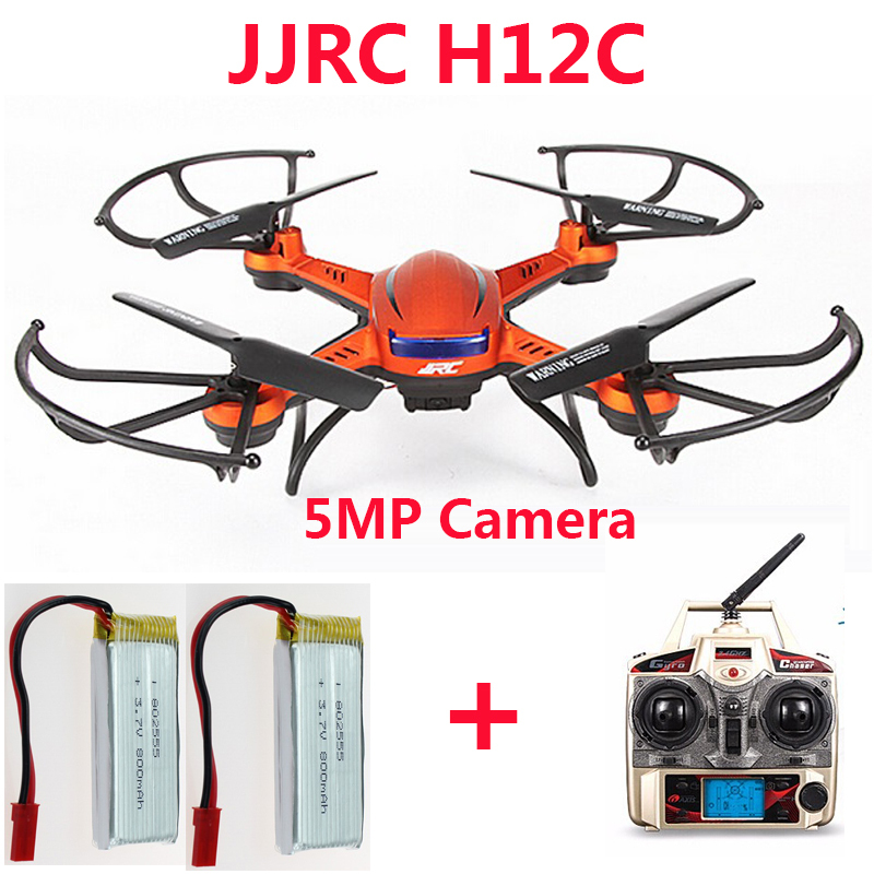 Get an extra battery  JJRC H12C Drone 6 Axis 4CH Headless Mode One Key Return RC Quadcopter with 5MP Camera (In stock) jjrc h8d 2 4ghz rc drone headless mode one key return 5 8g fpv rc quadcopter with 2 0mp camera real time lcd screen s15853