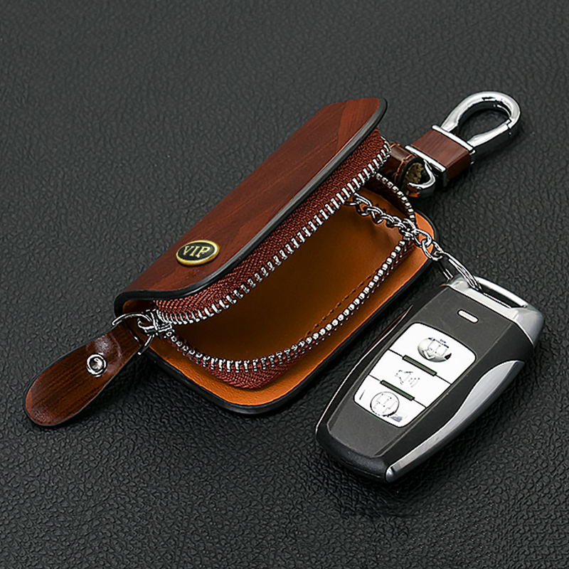 SNCN Leather Car Key Case Cover Key Wallet Bag Keychain Holder For Mazda 2 3 5 6 CX 3 CX 5 CX 9 MX 5 MX 3 MX 6 RX 7 RX 8 in Key Case for Car from Automobiles Motorcycles