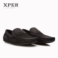 XPER Brand Fashion Soft Leather Breathable Men S Flats Shoes Slip On Mocassins Men Loafers Lace