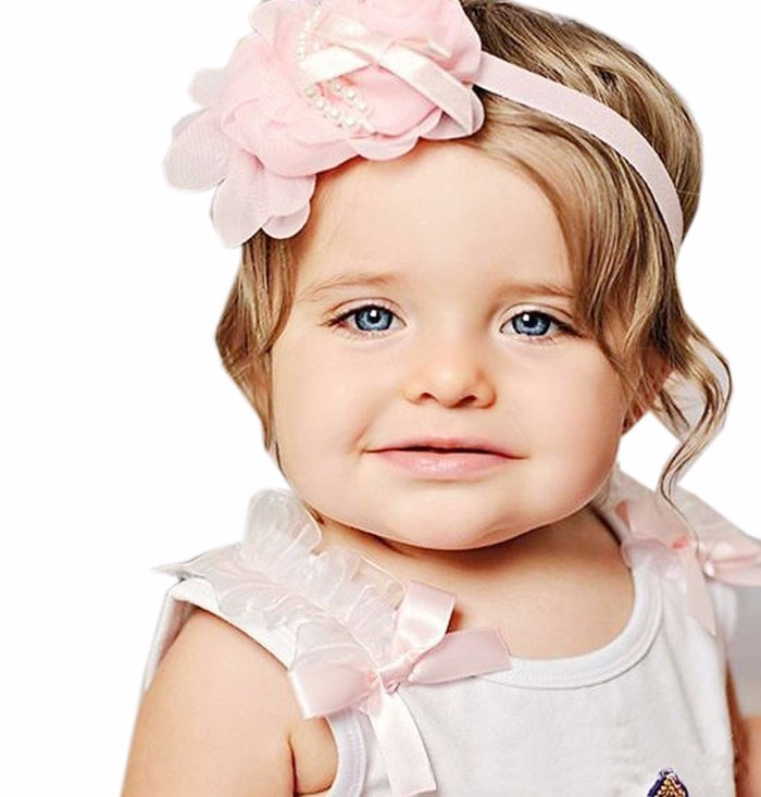 2019 NEW FASHION Casual Lovely Rhinestone Unusual Angel Baby Pearl Flower Hairband Headband Pink Cute Hot Free Shipping W#51