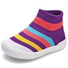 ee7ed080d0 Crianças Sapatos para Bebê Meninos Meninas Sapatilhas Crianças Luz Malha  Respirável Macio Correndo Sports Shoes Novo