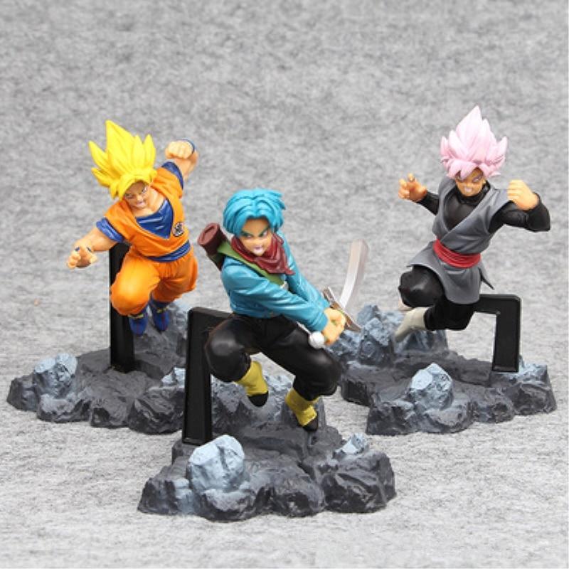 19styles Action Figure Dragon Ball Goku Trunks Zamasu PVC Action Figure Toys Dragon Ball Super Saiyan Rose Goku Black Model Toys