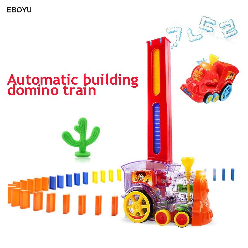 Erfinderisch Eboyu Domino Zug Spielzeug Auto Lkw Fahrzeug Automatische Gebäude Domino Zug Mit Lichter Und Musical Sound Geschenk Spielzeug Für Kinder Gebäude & Konstruktionsspielzeug 60 Stücke Sammeln & Seltenes