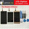 Para xiaomi redmi 3 pro display lcd + touch screen 100% novo acessórios de substituição do conjunto digitador para redmi3 telefone principal
