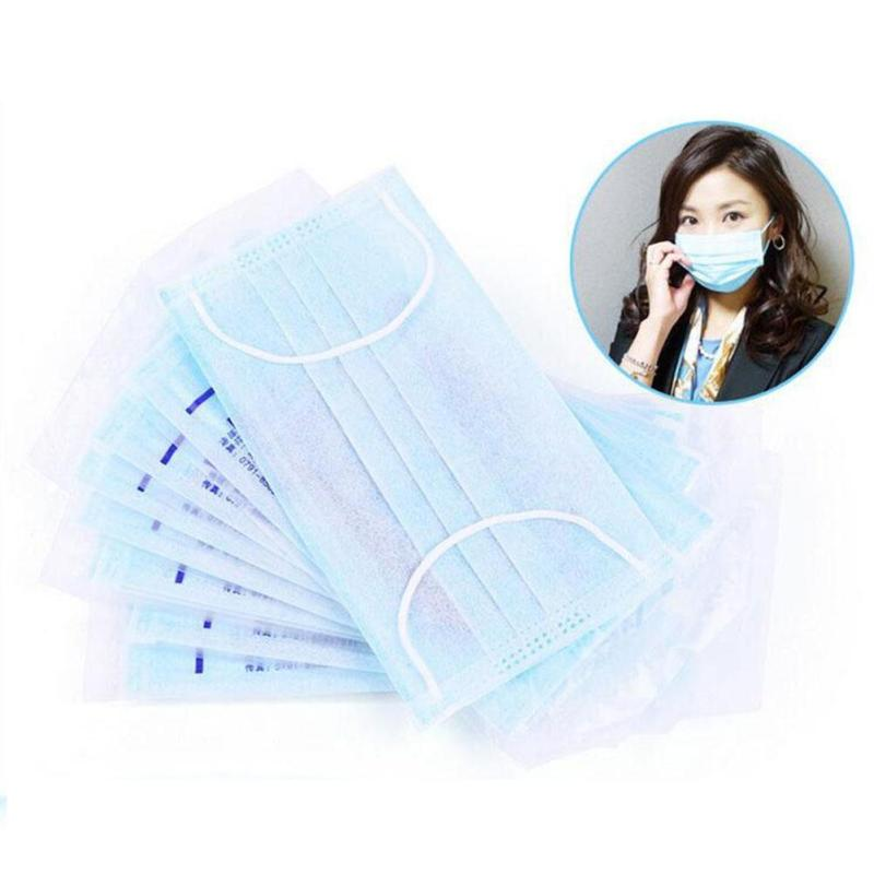 10Pcs/Pack mouth mask Disposable Earloop Face Mask Filters Bacteria Breathable non-woven Medical antibacterial face masks Z3