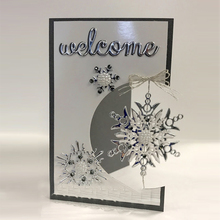 Word Welcome Metal Cutting Dies Stencils DIY Scrapbooking Album Photo Paper Cards Craft Decoration Embossing 2019 Cut